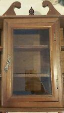 VTG Bombay Wall Hanging Curio Spindle Cabinet Glass Door Rack Trinket Display