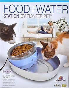 Pioneer Pet Water And Food Station Pet Dog Cat Stainless Basin