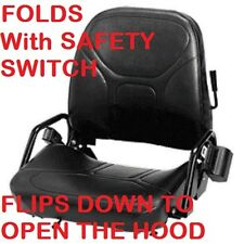 FORKLIFT SEAT w Switch FOLDS MITSUBISHI HYSTER YALE NISSAN CROWN TOYOTA FOLDING