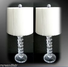 Chelsea House PAIR of crystal fountain lamps with shades - FREE SHIPPING