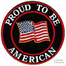 PROUD TO BE AMERICAN embroidered iron-on PATCH US USA flag UNITED STATES AMERICA