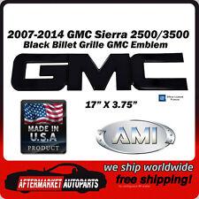 2007-2014 GMC Sierra 2500 Black Powder Coat GMC Front Grille Emblem AMI 96501K