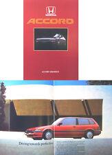 Honda Accord Aerodeck EX EXi 1986 Original UK Sales Brochure Pub. No. A486