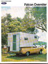 FORD FALCON Overnighter CAMPER 1976 ORIGINALE AUSTRALIANO SALES BROCHURE