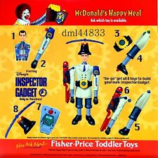 1999 McDonalds Inspector Gadget MIP Complete Set - Lot 8, Boys & Girls, 3+