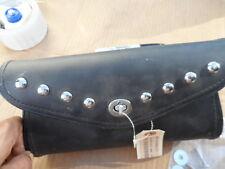 NOS Kawasaki VN900 Classc 00 Black Leather Studded Windshield Bag K53000-271