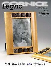 Cornice portafoto cm10*15 in legno con pietre