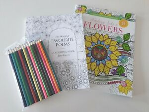World of Favourite Poems & Finding Solace Flowers Colouring in books adults kids