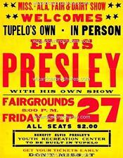 1957 ELVIS PRESLEY A3 CONCERT BILL POSTER SEPTEMBER 27th TUPELO MISSISSIPPI USA