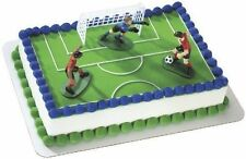 BOYS SOCCER BALL SPORT KICK-OFF  BIRTHDAY PARTY DECORATION CAKE TOPPER
