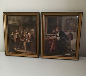 PAIR OF VINTAGE FRAMED PRINTS BY / THE CHARLATAN / THE LETTER WRITER