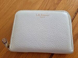 L.K.BENNETT leather white women's wallet purse with zip