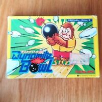 Dynamite Bowl  Famicom vintage cartridge from Japan boxed without manual