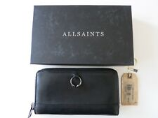 ALL SAINTS * PIERCING WALLET * BLACK * GELD BÖRSE * LEDER SCHWARZ * PORTEMONNAIE