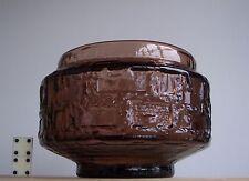 Vintage 1970s Scandinavian RUDA Glass Sweden Large Bowl Design Gote Augustsson