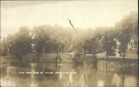 Winchester MA From Main St. Bridge c1910 Real Photo Postcard