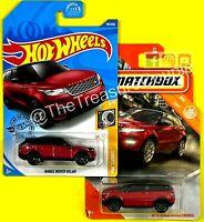 Hot Wheels / Matchbox 2021 - Lot of 2 - Range Rover Velar & Evoque - Red - E183