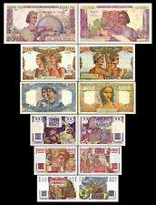 2x 50 - 10000 francs francais - Edition 1945 - 1957 - 12 billets de banque - 07