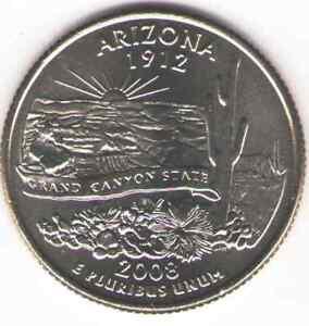 US. 2008-D. AZ. Arizona Statehood (1912) Quarter. Uncirculated.
