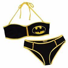 Batman Zipper Bandeau Boy Short Bikini Set DC Comics Swimsuit