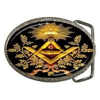 MASONIC MASON SYMBOLS KNIGHTS TEMPLAR BELT BUCKLE
