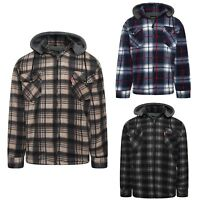 Big Size Winter Fleece Checked Warm Sherpa Shirt Hooded Lumberjack Jacket Size