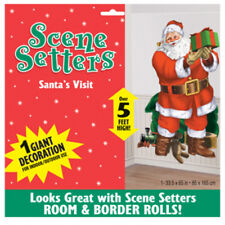 Santa / Father Christmas Visit Scene Setter Add On 65 Inch by AMSCAN