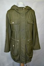 Clements Ribeiro Khaki Lightweight Hooded Coat size S
