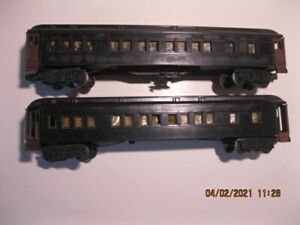 "2 LIONEL ? O SCALE HEAVYWEIGHT PASSENGER CARS LIKE  2627 ""MADISON"" --NO RESERVE"