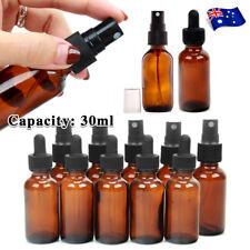 30ml Amber Glass Essential Oil Spray Roller Bottles Mist Sprayer Containers AU
