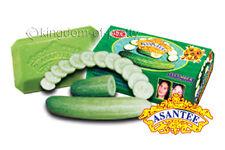 6x ASANTEE Cucumber Honey Soap Face Skin Lighten Collagen AHA Anti Acne 125g