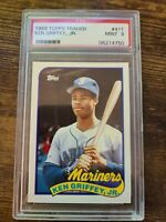 1989 Topps Traded  #41T Ken Griffey Jr Mariners Rookie Card PSA 9 Mint