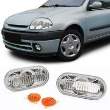 Klarglas Seitenblinker chrom für Renault Twingo Clio Megane Laguna Kangoo R19