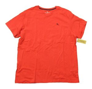 Tommy Bahama Men's Coral Red Crew-Neck Short Sleeve Sleep T-Shirt