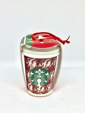 New Starbucks Coffee Cup Ceramic Christmas Tree  Ornament Red Print