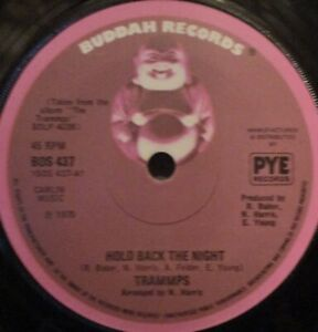 """TRAMMPS - Hold Back The Night ~ 7"""" Single"""