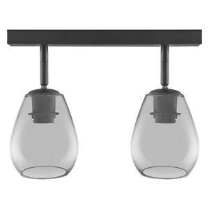 Osram 1906 Range Adjustable Double Cone Spot E27 Fitting - Smoke Glass