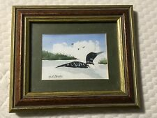 VINTAGE WATERCOLOR OF DUCK IN WATER SIGNED BY M.H. JACOBS - ESTATE