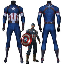 Captain America Costume Cosplay Suit Steve Rogers Avengers Age of Ultron 3D