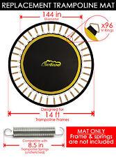 "SkyBound Premium 144"" Trampoline Mat w/96 V-Rings (Fits 14' Frame & 8.5"" Spring)"