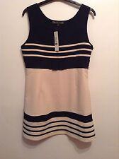 BNWT🌹Mela Loves London🌹Size Large (14) Navy / Cream Summer Dress