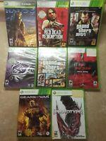 8 Xbox 360 Games Lot Red Dead Halo Gta Gears Saints Row