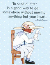 To Send A Letter Moving Heart-Handcrafted Fridge Magnet-w/Mary Engelbreit art