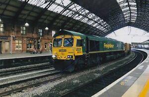 DIESEL RAILWAY TRAIN PHOTO CLASS 66 PICTURE FREIGHTLINER PHOTOGRAPH 66593 BRISTL