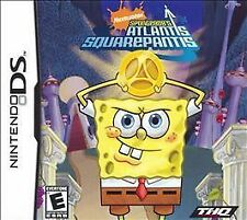 SpongeBob's Atlantis SquarePantis (Nintendo DS, 2007) w/ Case & Manual