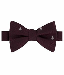 Tommy Hilfiger Mens Glen Plaid Tree Self-tied Bow Tie, Red, One Size