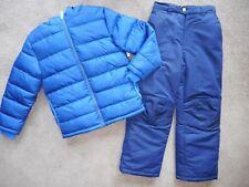 Snowsuits Boys ski pants Puffer Jacket Coats Navy Blue Snow Pants 2 Pc Set 10/12