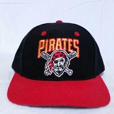 VTG Pittsburgh Pirates Twins Enterprise Snapback Hat 90s Script MLB Baseball Cap
