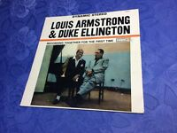 LOUIS ARMSTRONG & DUKE ELLINGTON (LP)TOGETHER FOR THE FIRST TIME *ROULETTE ITALY