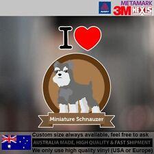 Miniature Schnauzer Illustration Sticker Style Custom cute 9.6 cm x 12.7 cm